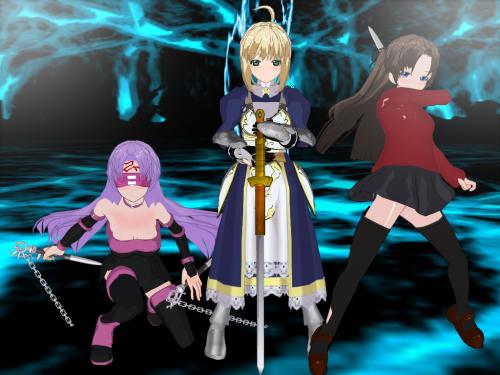 fate - rider saber tohsaka rin